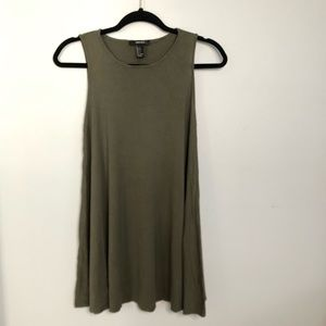 Forever21 Green Long Tank Top Small